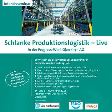 Schlanke Produktionslogistik – Live