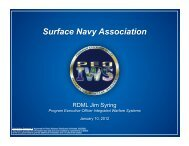 Surface Navy Association - Naval Sea Systems Command