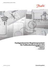 Funkgesteuertes Regelungssystem für Fußbodenheizungen CF2