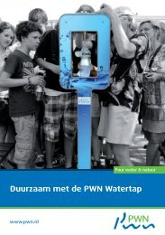 Duurzaam met de PWN Watertap