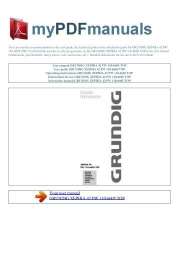user manual grundig m70 281 8 idtv log my pdf manuals rh yumpu com