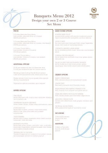 Banquet Menu Template Photos Of Sample Banquet Menu Templates Menu