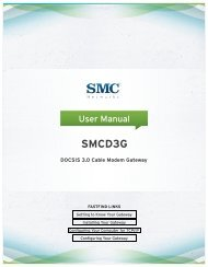 SMCD3G Cable Modem Gateway User Manual