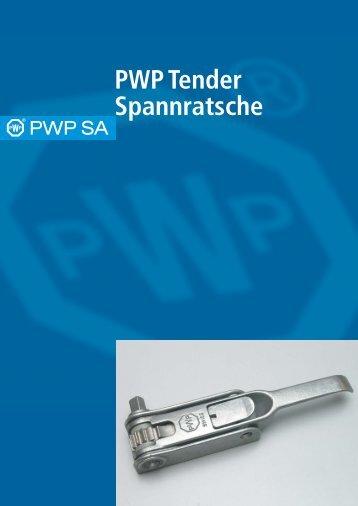 PWP Tender Spannratsche - PWP SA