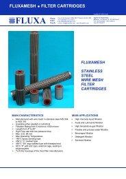 Fluxamesh filter cartridges - fluxa filtri spa