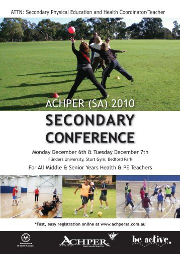 (sa) 2010 secondary - the ACHPER (SA)