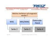Auswahlhilfe: Welches Schweißverfahren sowie deren ... - Reiz GmbH
