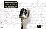 MUSICALES MUSICALS BARRIO DE LAS LETRAS ... - Es Madrid