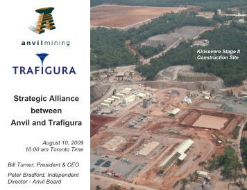Strategic Alliance between Anvil and Trafigura