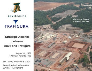 Strategic Alliance between Anvil and Trafigura