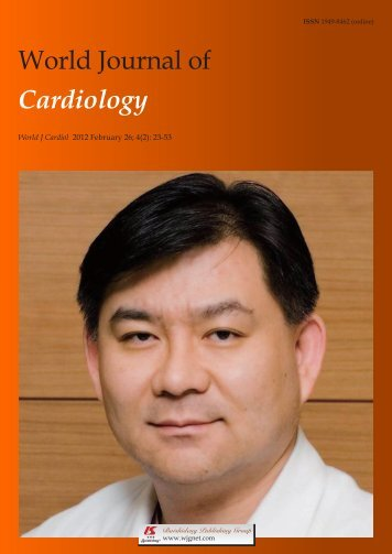 World Journal of Cardiology - World Journal of Gastroenterology