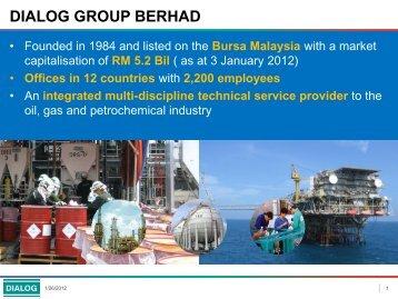 DIALOG GROUP BERHAD - Dialog Malaysia