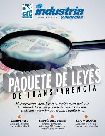 Edición Abril 2012 - Revista Industria y Negocios – CIG