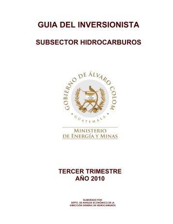 GUIA DEL INVERSIONISTA - Ministerio de Energía y Minas