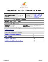 Statewide Contract Information Sheet - State of Georgia Government