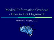 Medical Information Overload - How to Get Organized? - AOAMI