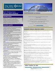 January 2013 e-Bulletin - Pacific Rim Advisory Council (PRAC)