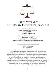tegucigalpa, m - Embassy of the United States Tegucigalpa, Honduras