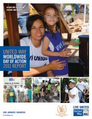 United Way Worldwide Day of Action 2011 Report - IAVE