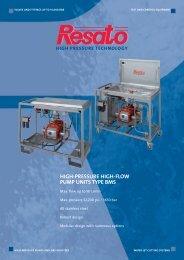 high-pressure high-flow pump units type bms - Resato International ...