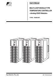 Users Manual For PUMV,N,T - Fuji Electric