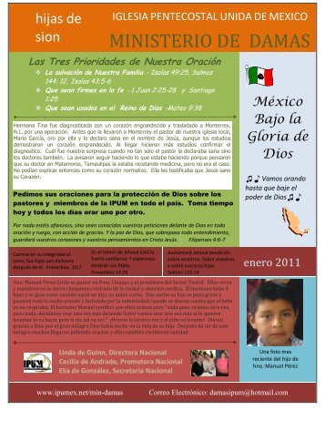 Boletin Enero 2011 - Iglesia Pentecostal Unida de México, IPUM