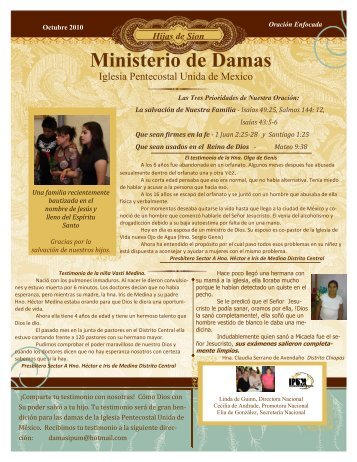 Ministerio de Damas - Iglesia Pentecostal Unida de México, IPUM
