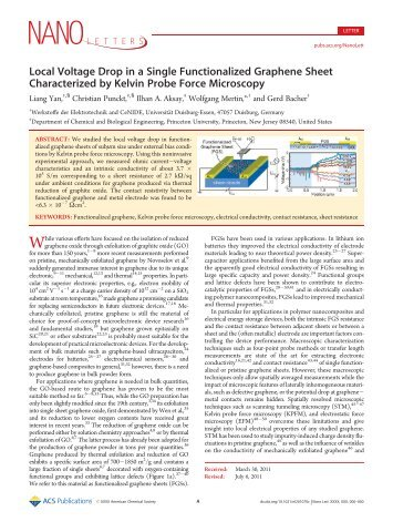 Local Voltage Drop in a Single Functionalized Graphene Sheet ...