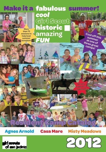 Resident Camp Guide 2012 - Girl Scouts of San Jacinto Council
