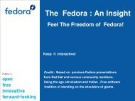 latest atest in free and Open Source Software. - Fedora Project