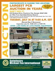 LARGEST PCB AUCTION IN YEARS