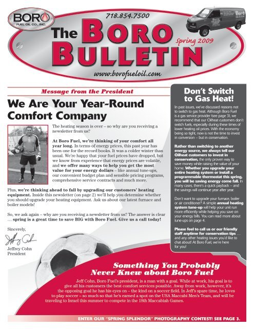 Tune Up Prices >> Boro Bulletin The Boro Energy Website
