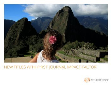 new titles with first journal impact factor - Thomson Reuters