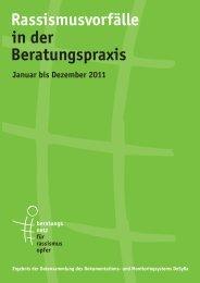Rassismusvorfälle in der Beratungspraxis 2011 - Eidgenössische ...
