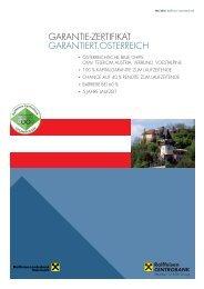 Garantie-Zertifikat Garantiert.Österreich - Raiffeisen