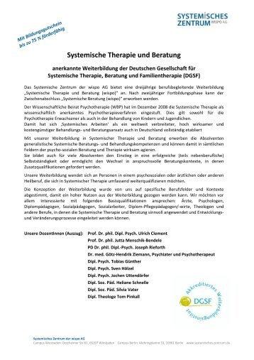 Systemische Therapie und Beratung - SYSTEMISCHES ZENTRUM