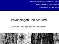 Psychologen und Steuern - WTH und WTW