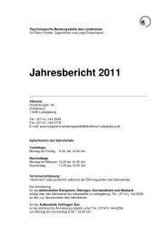 Jahresbericht 2011 - Landratsamt Ludwigsburg