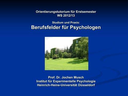 Literaturtips zum Berufsbild - Institut für experimentelle Psychologie ...