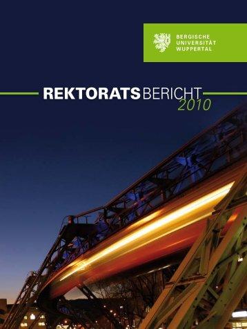 Berichtszeitraum Oktober 2009 - Bergische Universität Wuppertal