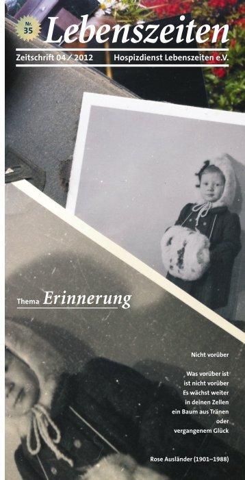 Lebenszeiten_2012_04 (PDF) - Hospiz Wuppertal Lebenszeiten eV