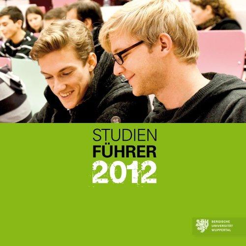 Studienführer 2012 - ZSB - Bergische Universität Wuppertal