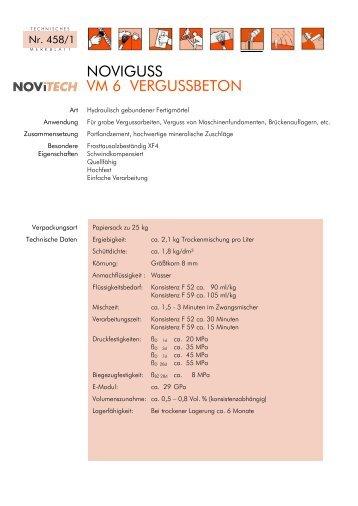 NOVIGUSS VM 6 VERGUSSBETON - Schretter & CIE