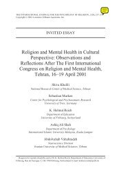 Religion and Mental Health in Cultural Perspective: Observations ...