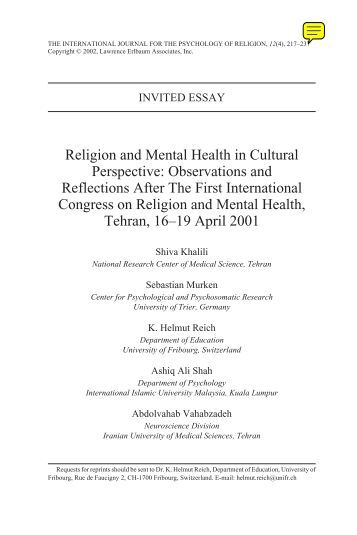 cultural perspectives of health Cultural perspectives on mental health social, cultural, and spiritual characteristics can impact the person's access to mental health care, the risk for or protection against developing a certain psychiatric disorder, the way in which symptoms will be experienced and expressed, the ease or difficulty of participating in psychiatric treatment, and the ability to achieve recovery.