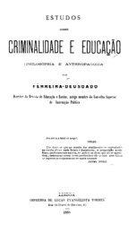 Estudos sobre criminalidade e educação - Faculdade de Direito da ...