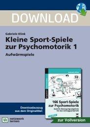 Kleine Sport-Spiele zur Psychomotorik 1 - Netzwerk Lernen