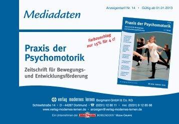 """Mediadaten für die """"Praxis der Psychomotorik"""" - Verlag Modernes ..."""
