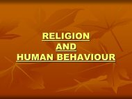 PSYCHOLOGY AND RELIGION - Home