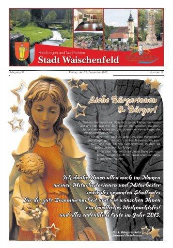 Liebe Bürgerinnen & Bürger! - Waischenfeld